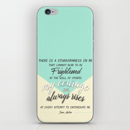 my courage rises iPhone Skin