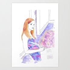 Elle Fanning, Somewhere Art Print