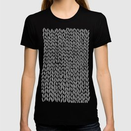 Hand Knit Dark Grey T-shirt