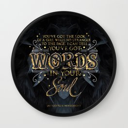 Words in your soul Wall Clock