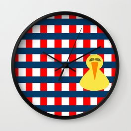 picnic duck Wall Clock