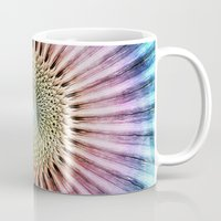 tie dye Mugs featuring Textured Mandala Tie Dye by Phil Perkins