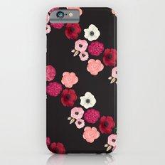 Black & Flowers iPhone 6s Slim Case