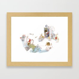 Away002 Framed Art Print