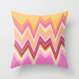 Bright Multi Waves Throw Pillow