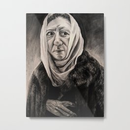 Modernization: Lady in a Fur Coat (El Greco) Metal Print