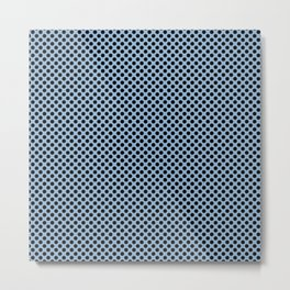 Airy Blue and Black Polka Dots Metal Print