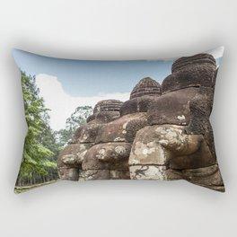 Stone Elephants at Angkor Thom, Siem Reap, Cambodia Rectangular Pillow