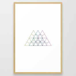 #208 Dolomiti – Geometry Daily Framed Art Print