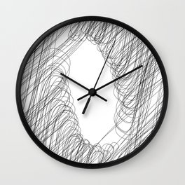 """ Cloud Collection "" - Minimal Letter O Print Wall Clock"