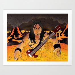 High on Fire Art Print