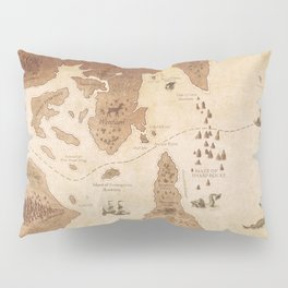 The Antlered Ship_Map Endpapers Pillow Sham