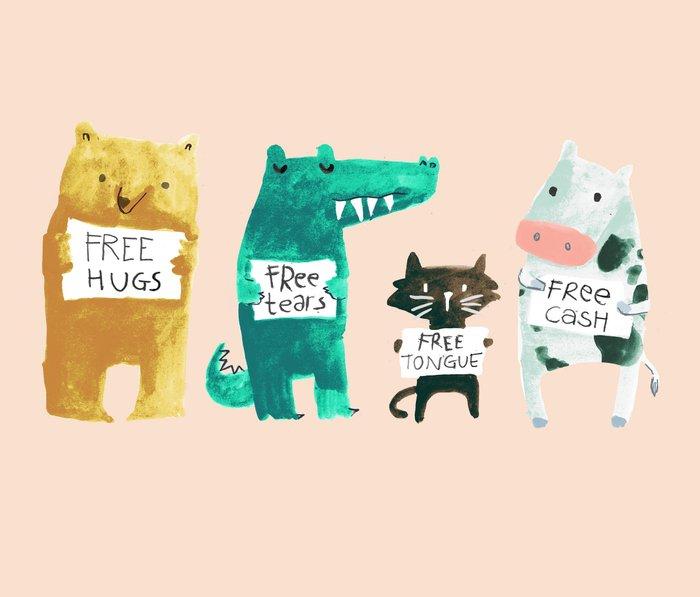Animal idioms - its a free world Metal Travel Mug