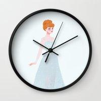 cinderella Wall Clocks featuring Cinderella by punziella