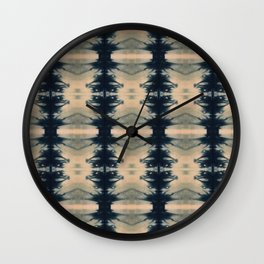 Shibori Reflections Wall Clock
