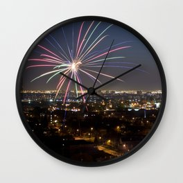 Fireworks. Wall Clock