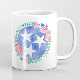 Tennessee Tri-star with flowers Coffee Mug