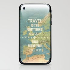 Travel is the only thing you buy that make you richer iPhone & iPod Skin