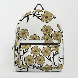 Tan Flowers Backpack