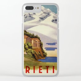 Rieti Sabina vintage Italian travel Clear iPhone Case
