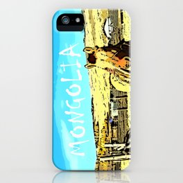 Mongolia Horse Treks (at Mountain Rubia) iPhone Case