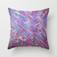 tina fey Throw Pillows featuring Tina by Marina Scheinost