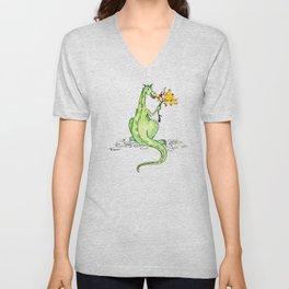 Dinosaur S'Mores Children's Art Unisex V-Neck