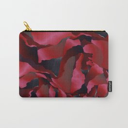 Red frayed abstraction Carry-All Pouch