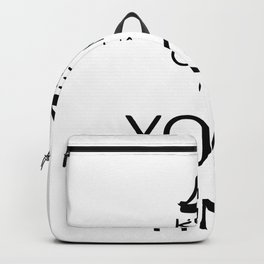 keep calm it´s yoga time Backpack