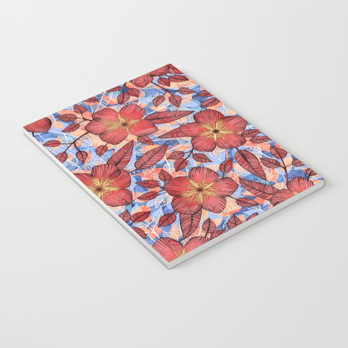 Coral Summer - a hand drawn floral pattern Notebook