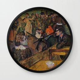 """Henri de Toulouse-Lautrec """"Ball at the Moulin de la Galette"""" Wall Clock"""