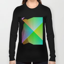 RGB (red gren blue) pixel grid planes crossing at right angles Long Sleeve T-shirt