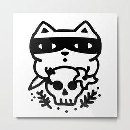 Bandito Cat Metal Print