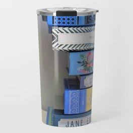 Shelfie in Blue 1 Travel Mug