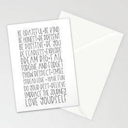 Family Reminders + Values Stationery Cards