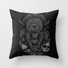 Wild Bison Throw Pillow