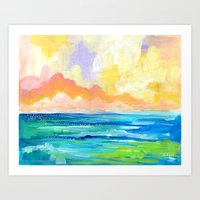 Abstract Seascape I Art Print