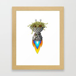 Pastafarian Flying Spaghetti Monster Rastafarian FSM Framed Art Print