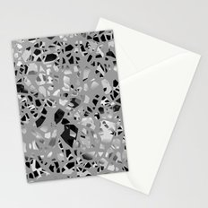 Graphic Terrazzo BW Stationery Cards