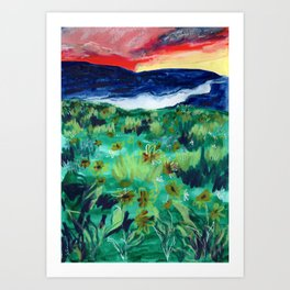 Buffalo Wildflowers - 6 Art Print