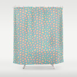 Leopard Baby - Pink and  Blue Shower Curtain