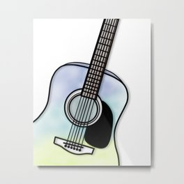 Acoustic guitar coloured  Metal Print