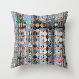 Saturday 15 June 2013: Odd that tradition conservation involves shelling. Throw Pillow