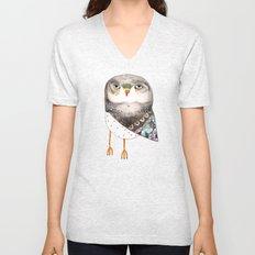 Owl by Ashley Percival Unisex V-Neck