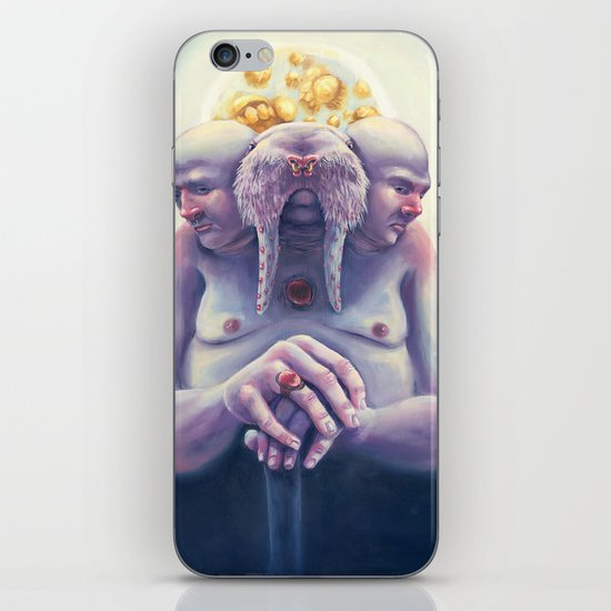 High Society Walrus iPhone & iPod Skin