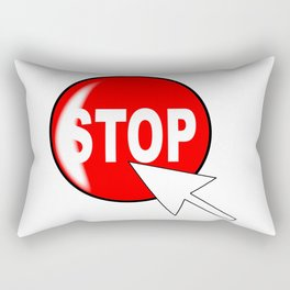 Computer Icon Stop Rectangular Pillow