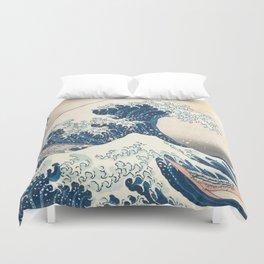 The Great Wave off Kanagawa by Katsushika Hokusai from the series Thirty-six Views of Mount Fuji Duvet Cover