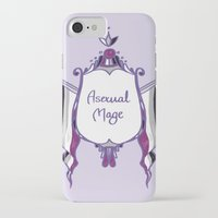 asexual iPhone & iPod Cases featuring Asexual Mage by armouredescort