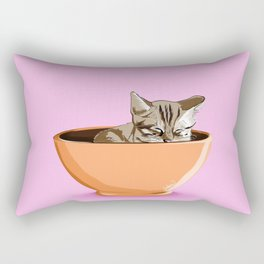 Cat Coffee Mug Rectangular Pillow