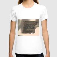 typewriter T-shirts featuring TYPEWRITER by Alejandra Triana Muñoz (Alejandra Sweet